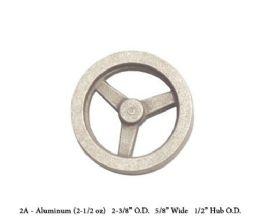 Unmachined FWC-2A Aluminium Flywheel. 2 3/8 Inch Dia x 5/8 W X 1/2 HUB